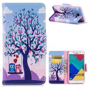 Tree and Owls Leather Wallet Case for Samsung Galaxy A5 2016 A510