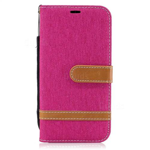 Jeans Cowboy Denim Leather Wallet Case for Samsung Galaxy A5 2017 A520 - Rose