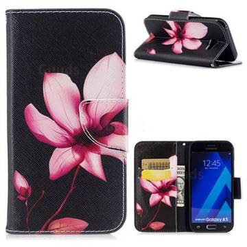 Lotus Flower Leather Wallet Case for Samsung Galaxy A5 2017 A520