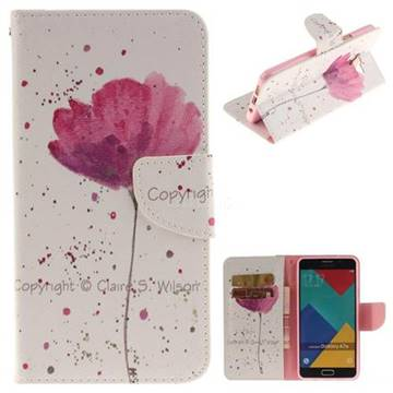 Purple Orchid PU Leather Wallet Case for Samsung Galaxy A7 2016 A710