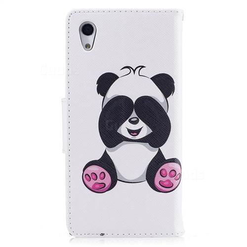 Lovely Panda Leather Wallet Case for Sony Xperia XA1