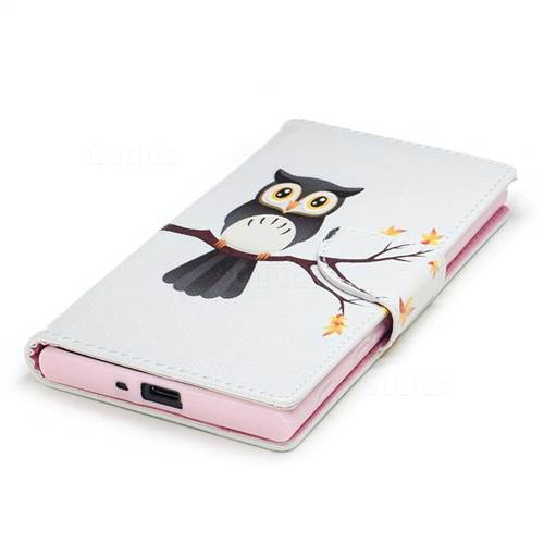 Owl on Tree Leather Wallet Case for Sony Xperia XZs
