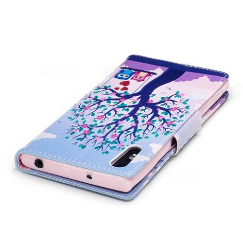 Tree and Owls Leather Wallet Case for Sony Xperia XZs