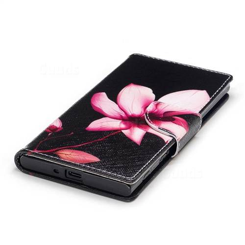 Lotus Flower Leather Wallet Case for Sony Xperia XZs