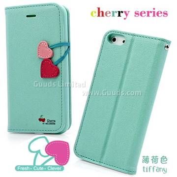 tiffany iphone case der hellodeere cherry series leather for iphone 5s 13104