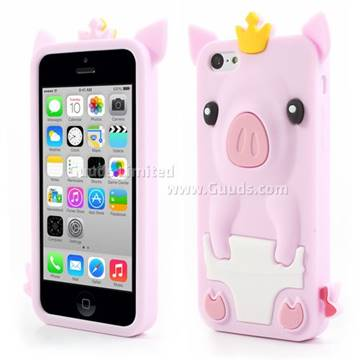 cute iphone 5c cases crown pig soft silicone for iphone 5c light 1930