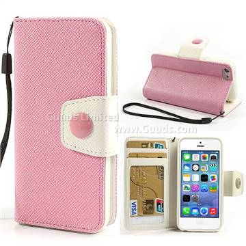 wallet case for iphone 5c dual color leather wallet for iphone 5c with tpu 1803