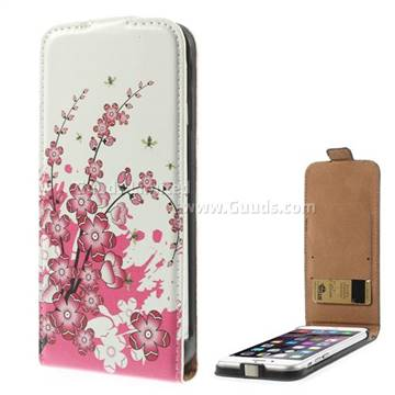 Plum Blossom Pattern Vertical Leather Flip Case for iPhone 6 Plus(5.5 ...