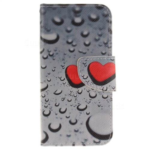 Heart Raindrop PU Leather Wallet Case for iPhone 7 7G(4.7 inch)