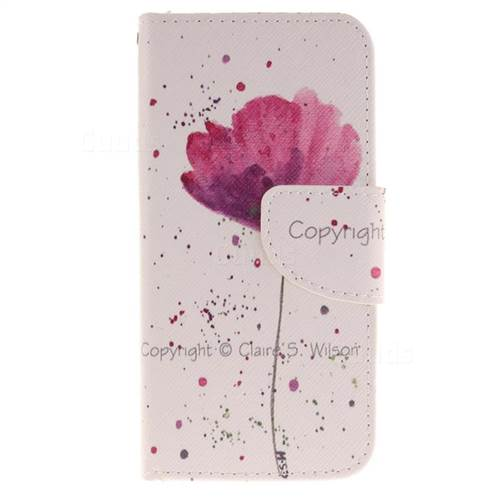 Purple Orchid PU Leather Wallet Case for iPhone 7 7G(4.7 inch)