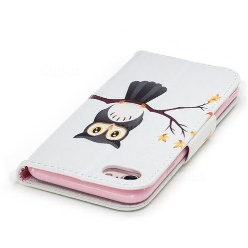 Owl on Tree Leather Wallet Case for iPhone 7 7G(4.7 inch)