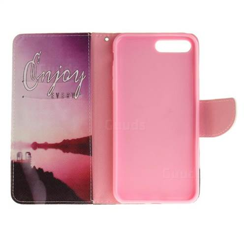Seaside Scenery PU Leather Wallet Case for iPhone 7 Plus 7P(5.5 inch)