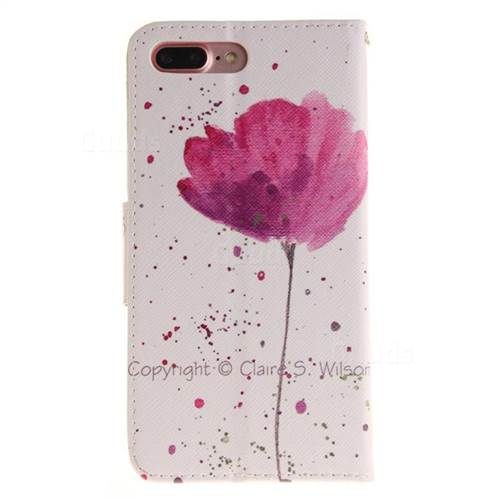 Purple Orchid PU Leather Wallet Case for iPhone 7 Plus 7P(5.5 inch)