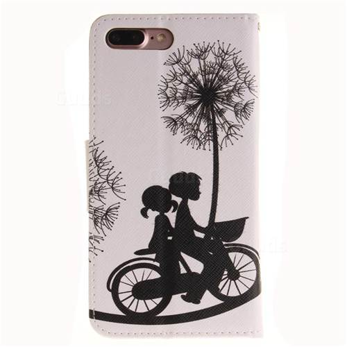 Cycling Dandelion PU Leather Wallet Case for iPhone 7 Plus 7P(5.5 inch)