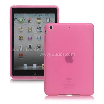 Soft Silicone Case Cover for iPad Mini / iPad Mini 2 / iPad Mini 3 - Pink - Silicone Case - Guuds