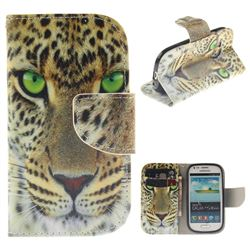 Yellow Tiger PU Leather Wallet Case for Samsung Galaxy S3 Mini i8190