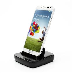 Dock Charger for Samsung Galaxy S4 i9500 / Galaxy S3 i9300 / Galaxy S2 / Galaxy Note II - Black