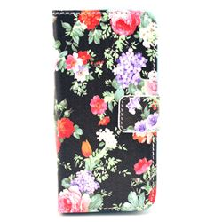 Garden Flowers Leather Flip Wallet Case Cover for iPhone 5s / iPhone 5