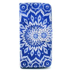 Mandala Flower Leather Flip Wallet Case Cover for iPhone 5s / iPhone 5