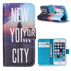 New York City Leather Wallet Case for iPhone 5s / iPhone 5