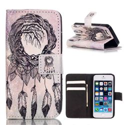 Campanula Trees Leather Wallet Case for iPhone SE / iPhone 5s / iPhone 5