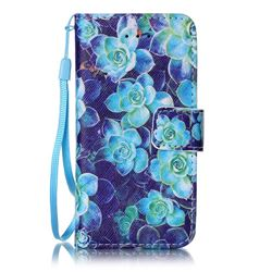 Multi Begonia Leather Wallet Case for iPhone SE 5s 5