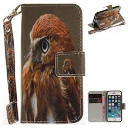 Young Eagle Hand Strap Leather Wallet Case for iPhone SE 5s 5