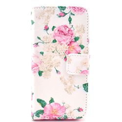 Chinese Rose Leather Flip Wallet Case Cover for iPhone 5c