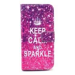 KEEP CALM AND SPARKLE Leather Wallet Case for iPhone 6 (4.7 inch)