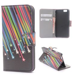 Meteor Shower Leather Wallet Case for iPhone 6 (4.7 inch)