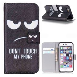 Do Not Touch My Phone Leather Wallet Case for iPhone 6 (4.7 inch)