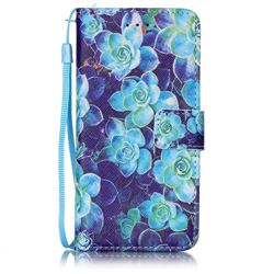 Multi Begonia Leather Wallet Case for iPhone 6s 6 (4.7 inch)