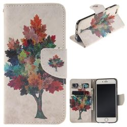 Colored Tree PU Leather Wallet Case for iPhone 6s 6 6G(4.7 inch)