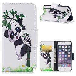 Bamboo Panda Leather Wallet Case for iPhone 6s 6 6G(4.7 inch)