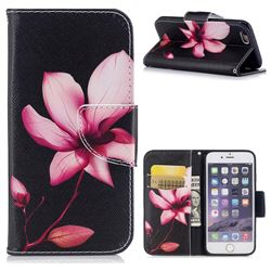Lotus Flower Leather Wallet Case for iPhone 6s 6 6G(4.7 inch)