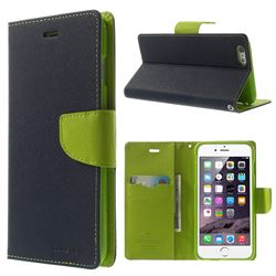 Mercury Fancy Diary Leather Flip Cover for iPhone 6 Plus (5.5 inch) - Blue