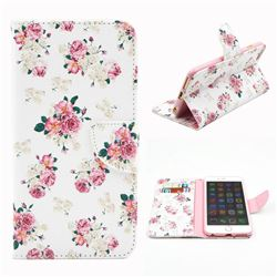 Eastern Roses Leather Wallet Case for iPhone 6 Plus (5.5 inch)
