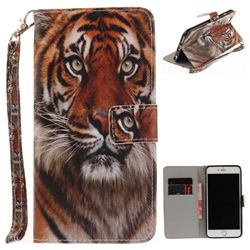 Siberian Tiger Hand Strap Leather Wallet Case for iPhone 6s Plus / 6 Plus 6P(5.5 inch)