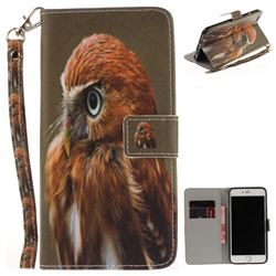 Young Eagle Hand Strap Leather Wallet Case for iPhone 6s Plus / 6 Plus 6P(5.5 inch)