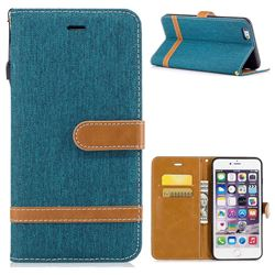 Jeans Cowboy Denim Leather Wallet Case for iPhone 6s Plus / 6 Plus 6P(5.5 inch) - Green