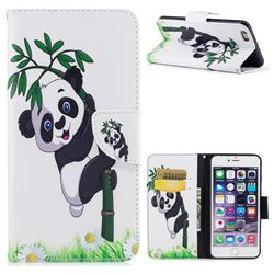 Bamboo Panda Leather Wallet Case for iPhone 6s Plus / 6 Plus 6P(5.5 inch)
