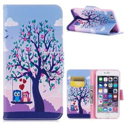 Tree and Owls Leather Wallet Case for iPhone 6s Plus / 6 Plus 6P(5.5 inch)