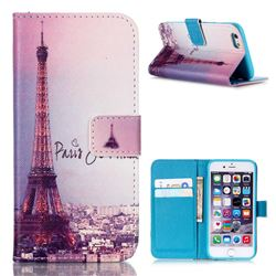 Fog Eiffel Tower Leather Wallet Case for iPhone 6s (4.7 inch)