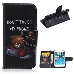 Chainsaw Bear Leather Wallet Case for iPhone 6s (4.7 inch)