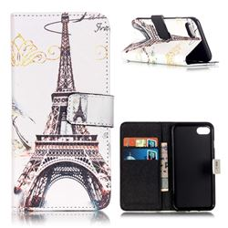 Retro Eiffel Tower Leather Wallet Case for iPhone 7 (4.7 inch)