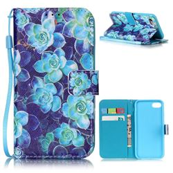 Multi Begonia Leather Wallet Case for iPhone 7 (4.7 inch)