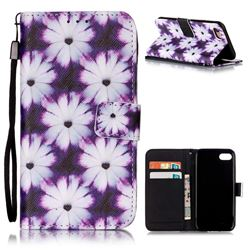Purple Chrysanthemums Leather Wallet Case for iPhone 7 (4.7 inch)