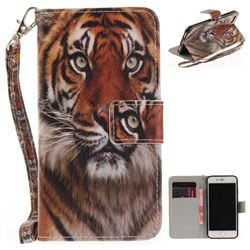 Siberian Tiger Hand Strap Leather Wallet Case for iPhone 7 7G(4.7 inch)