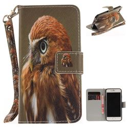 Young Eagle Hand Strap Leather Wallet Case for iPhone 7 7G(4.7 inch)