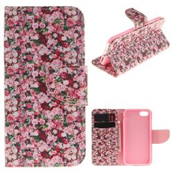 Intensive Floral PU Leather Wallet Case for iPhone 7 7G(4.7 inch)